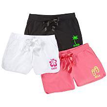 2 tropical fun shorts